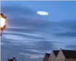格鲁吉亚首都傍晚穿城而过的ufo